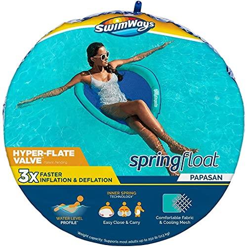 Swimways, Materassino Gonfiabile per Piscina Spring Float Papasan con Valvola Hyper-Flate