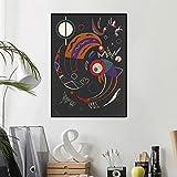 yiyiyaya Wassily Kandinsky Comets litografía Original Imprimir Arte de la Pared Pintura al óleo Imagen Impresa en Lienzo para Sala de Estar decoración 60x90cm