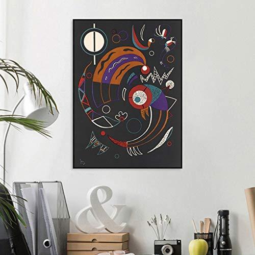 wen-shhen No frameWassily Kandinsky Kometen original Lithographiedruck Wandkunst Öl Gemälde Bilddruck auf Leinwand für Wohnzimmer Dekoration 40x60cm