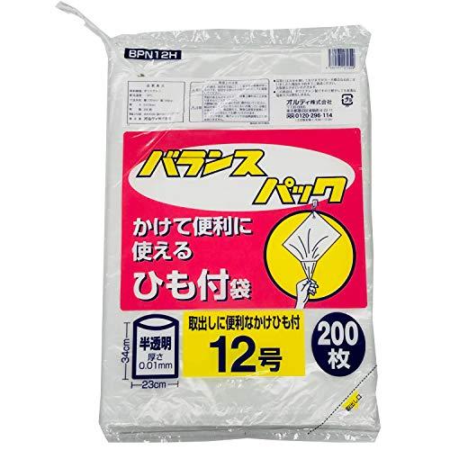 オルディ バランスパック ビニール袋 ひも付 半透明 12号 200枚入