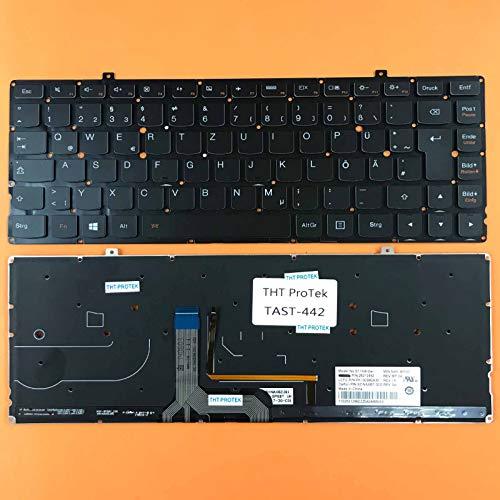 kompatibel für Lenovo IdeaPad Yoga 2 Pro 13 Tastatur - Farbe: Schwarz - mit Beleuchtung - ohne Rahmen Deutsches Tastaturlayout