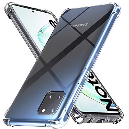 Ferilinso Hülle für Samsung Galaxy A81/ Galaxy Note 10 Lite Hülle, [Version mit Vier Ecken verstärken] [Kamerapflegeschutz] Stoßfeste, weiche TPU-Silikonhülle aus Gummi (Transparent)