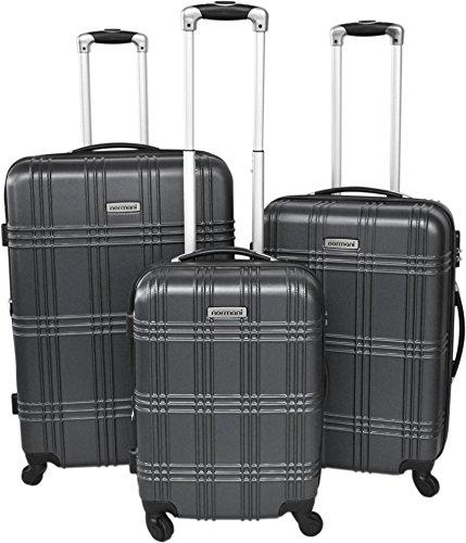 normani Hartschallen Trolley-Koffer Set 50cm/60cm/70cm (231l/13kg) mit ABS Farbe Anthrazit
