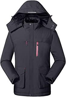 Men's Electric Heated Fleece Jacket with Hood, 3 Heating Settings/Machine Washable, Universal 5V / 2.0A USB Power Bank Powered(Not Included)
