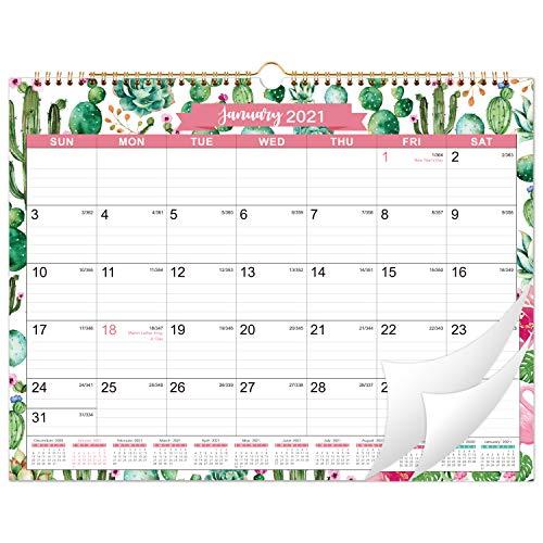 """2021 Calendar - 12 Monthly Wall Calendar, 11"""" x 8.5"""", Jan. 2021 -..."""