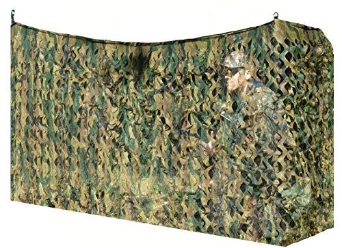 Red de camuflaje para tiro de palomas, 1,4 x 4 m, color verde o paja, Green / Brown