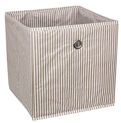 suns 3 Stück Aufbewahrungsboxen mit Griff, Faltbare Aufbewahrungskiste für Kleiderschrank, Kleidung, Bücher, Kosmetik, Spielzeug (Braun)