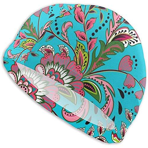 Like Moon Swimming Cap Badekappe Hut mit Fantasie Blumen natürliche Sommer Pool Meer Badekappe Badehaar Pflege Hut für langes Haar