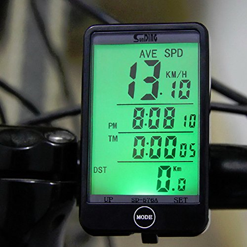 Affordable Lexiesxue SD - 576A Waterproof Auto Bike Computer Light Mode Touch Wired Bicycle Computer...
