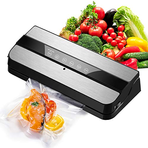 VANTEN Vacuum Sealer Machine for Food Savers w /Starter Kit,One-Touch Operation,Touch-Screen Key,Dry and Moist Food Modes,Use to Preserve Food Seal a Meal Vacuum Sealer Machine