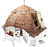 Russian-Bear Hot Tent with Stove Pipe Vent. Hunting Fishing Outfitter Tent with Wood Stove. 4 Season Tent. Expedition Arctic Living Warm Tent. Fishermen, Hunters and Outdoor Enthusiasts! 8 Person Kit