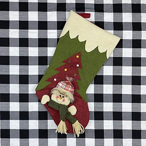 langchao Decoraciones navideñas Calcetines navideños Bolsas de Regalo navideñas Regalos navideños Calcetines navideños Colgantes de Papá Noel
