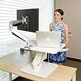 Flexispot F3W Höhenverstellbarer Schreibtisch Sitz-Steh-Schreibtisch Steharbeitsplatz Computertisch Weiß Neu - 6