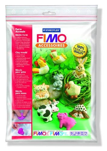 FIMO Animales de Granja arcilla Molde, White