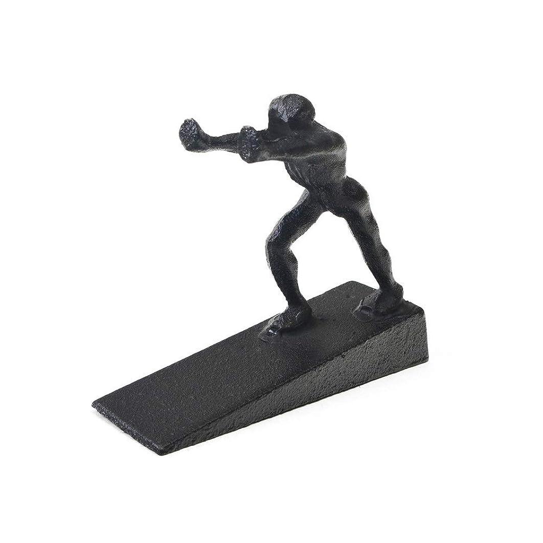 ヘビー肯定的飼い慣らすドアストッパー 防風クリエイティブヘラクレスドアホルダー現代鋳鉄製ドアストッパー 玄関 室内に適用 (Color : Black, Size : One Size)