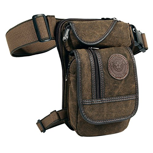Egoodbest Canvas Tactical Military Waist Pack Pouch Outdoor Drop Leg Bag