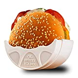 Original Burger Holder - Hygienic Reusable Hamburger Bun Shell - Eco Friendly Mess-Free Alternative to Wax Paper, Aluminum Foil, Tin Foil Sheets - Perfect for Sloppy Joes - BPA-Free & Dishwasher Safe