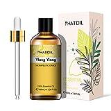 PHATOIL Aceites Esenciale de Ylang Ylang 100 ml, 100% Naturales Puros, Aceite Esencial de Aromaterapia de Grado...