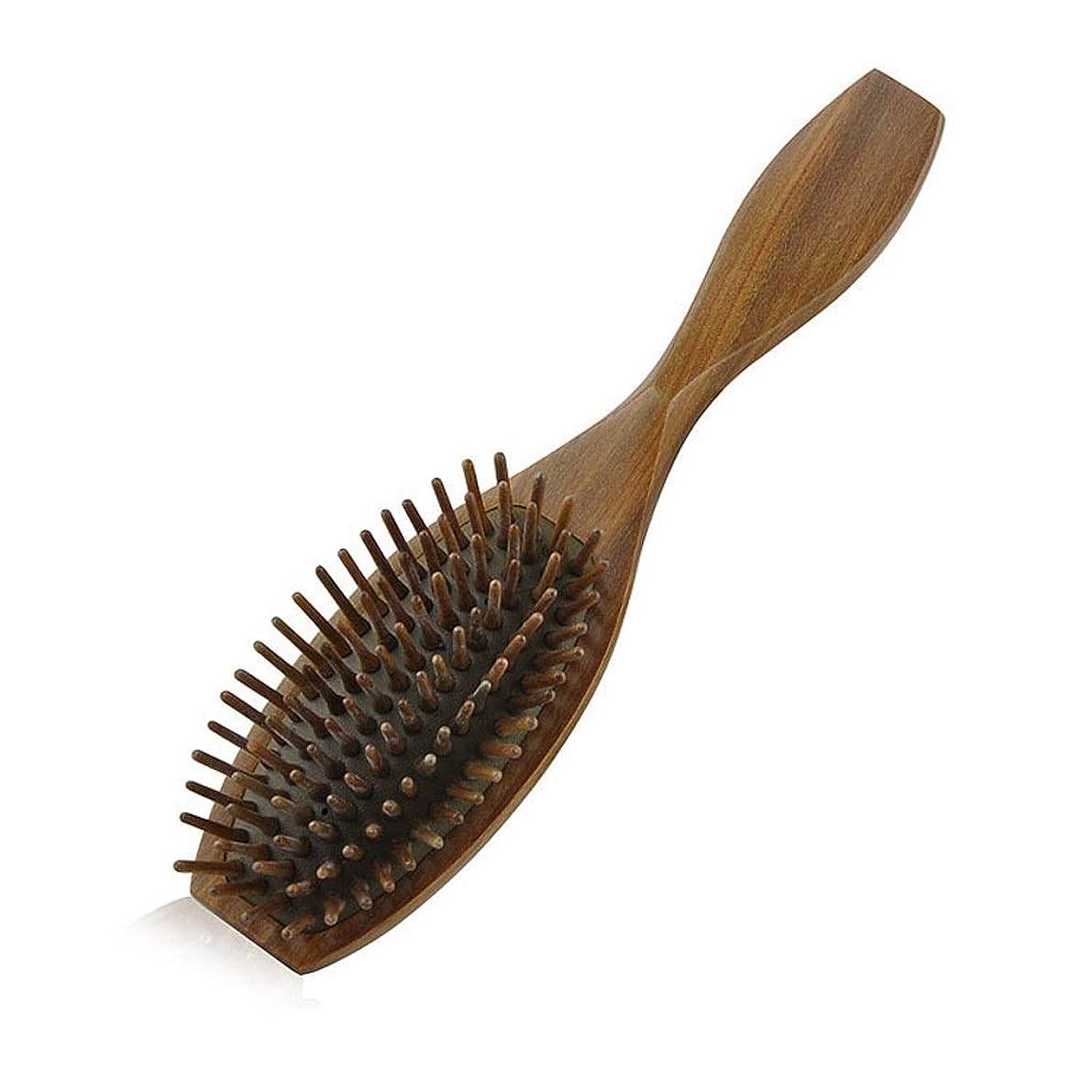 取り替えるシール呼吸天然木製のブラシ、エアバッグマッサージくし、グリーンサンダルウッドレザーエアクッションくし、竹くしブラシ毛女性や子供たちは、髪と頭皮のマッサージを削減します