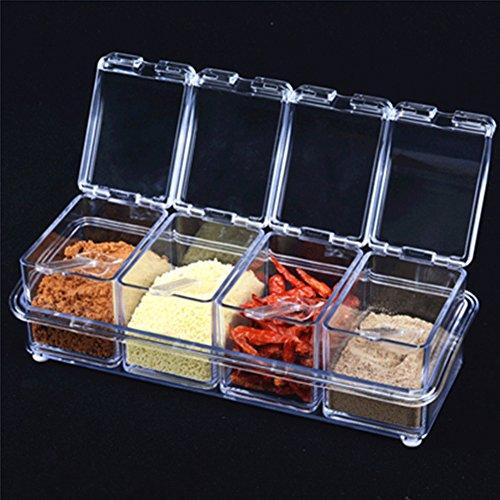 creatieve kruidpotten in de keuken Vier pakken goedkope Spice pot continentale kruiden doos acryl spice box