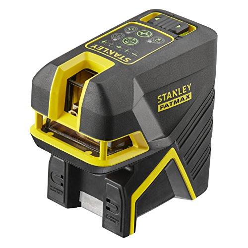 Stanley FMHT1-77442 FatMax Kreuzlinien- und 5-Spotlaser, Pulsmodus zur Verwendung mit einem Emfänger, inklusive Wandhalterung, Zieltafel, Lasersichtbrille, TSTAK kompatible Box, Ladegerät, grün