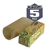 GreenGo–Rollos de papel de liar Natural ancho [mm], auténtica no blanqueado sin cloro 100% natural goma arábiga con un grosor de ideal 14G/m2para la mejor Pure y Natural fumar experiencia, fabricado en Europa de fuentes sostenibles [, 5unidades rollos de papel 4medidor cada]