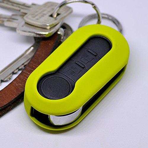 Soft Case Schutz Hülle Auto Schlüssel Klappschlüssel für Citroen Jumper Peugeot Boxer FIAT Ducato 500 Punto Doblo Panda ab ´06 / Farbe: Apfelgrün