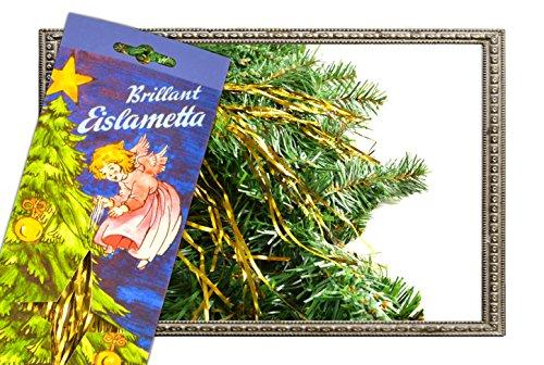 Helmecke & Hoffmann * 10 Gramm Stanniol-Lametta Eislametta Staniol Baumdeko Baumbehang Christbaumschmuck (Gold)