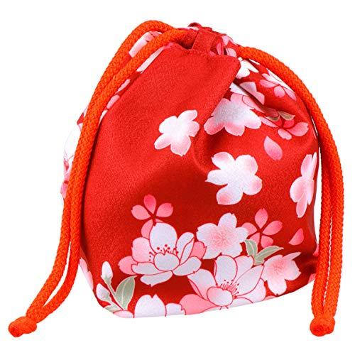 NONE Japanische Kimono Tasche Traditionelle Kordelzug Tasche Geldbörse Stoff Blumenmuster Münztasche Kleine Geldbörse Aufbewahrungstasche Stil 3