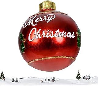 Ruizik Opblaasbare kerstbal voor buiten, 24 inch PVC gigantische kerstbal opblaasbare bal, kerstversiering werf kunst tuin...
