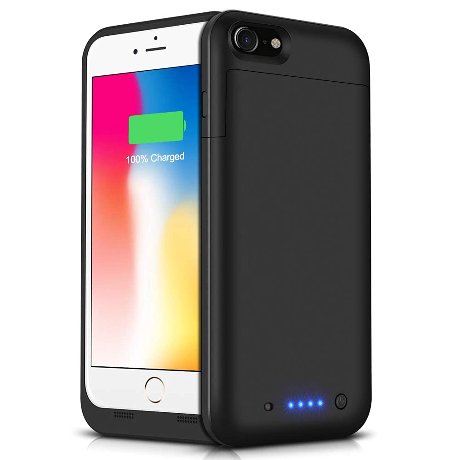Battery Case for iPhone 6s Plus/6 Plus, 6800mAh Portable Protective Power Charging Case Compatible with iPhone 6 Plus/6s Plus (5.5 inch) Rechargeable Extended Battery Charger Case – Black