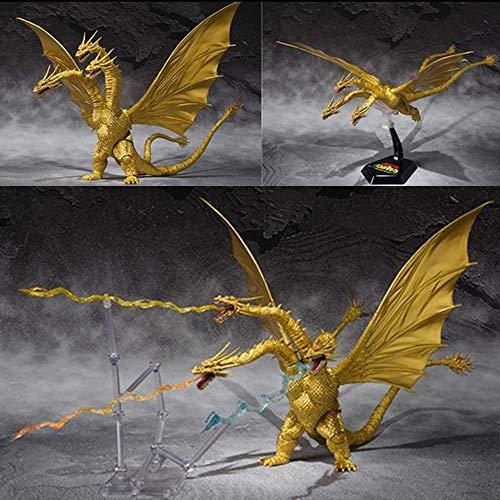 Godzilla: King of The Monsters Animation Character Models Dreiköpfiger Drache-Gott des Godzilla Monsters Cadillac Dinosaurier Kinderspielzeug 30CM