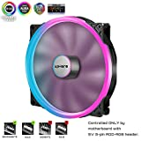 upHere P200RGB-Hydraulic Bearing 200mm 5V RGB PWM Fan for Computer Cases,P200RGB