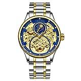 Reloj automático para Hombre Relojes mecánicos Esqueleto Hueco automático automático de Marca Reloj Deportivo Masculino Reloj Hombre