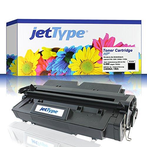 jetType Toner ersetzt HP C4096A / 96A für LaserJet 2100 / 2200 / 2200dn / 2100tn / 2200d, schwarz, 5.000 Seiten