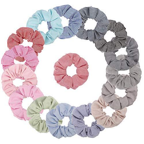 TOBATOBA16 Paquete de diademas de algodón para el pelo, bandas elásticas para el pelo, para niña/mujer (16 colores)