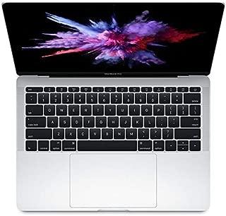 Latest Apple MacBook Pro MPXR2 Laptop - Intel Core i5, 2.3Ghz Dual Core, 13-Inch, 128GB SSD, 8GB, English-Arabic Keyboard, Mac OS Sierra, Silver - Middle East Version