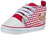 Playshoes Baby Mädchen Turnschuhe, Sneaker Herzchen Love Krabbel- & Hausschuhe, Rot (rot 8), 20 EU
