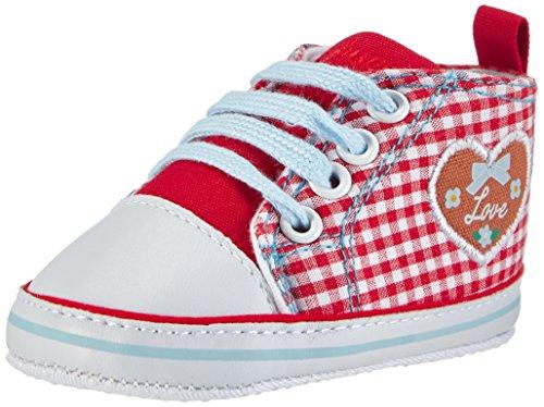 Playshoes Baby Mädchen Turnschuhe, Sneaker Herzchen Love Krabbel- & Hausschuhe, Rot (rot 8), 19 EU