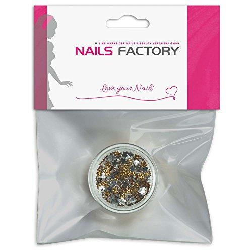 Strass Fleurs Abricot de pierres de strass avec décoration en cristal Rhinestones Nail Art