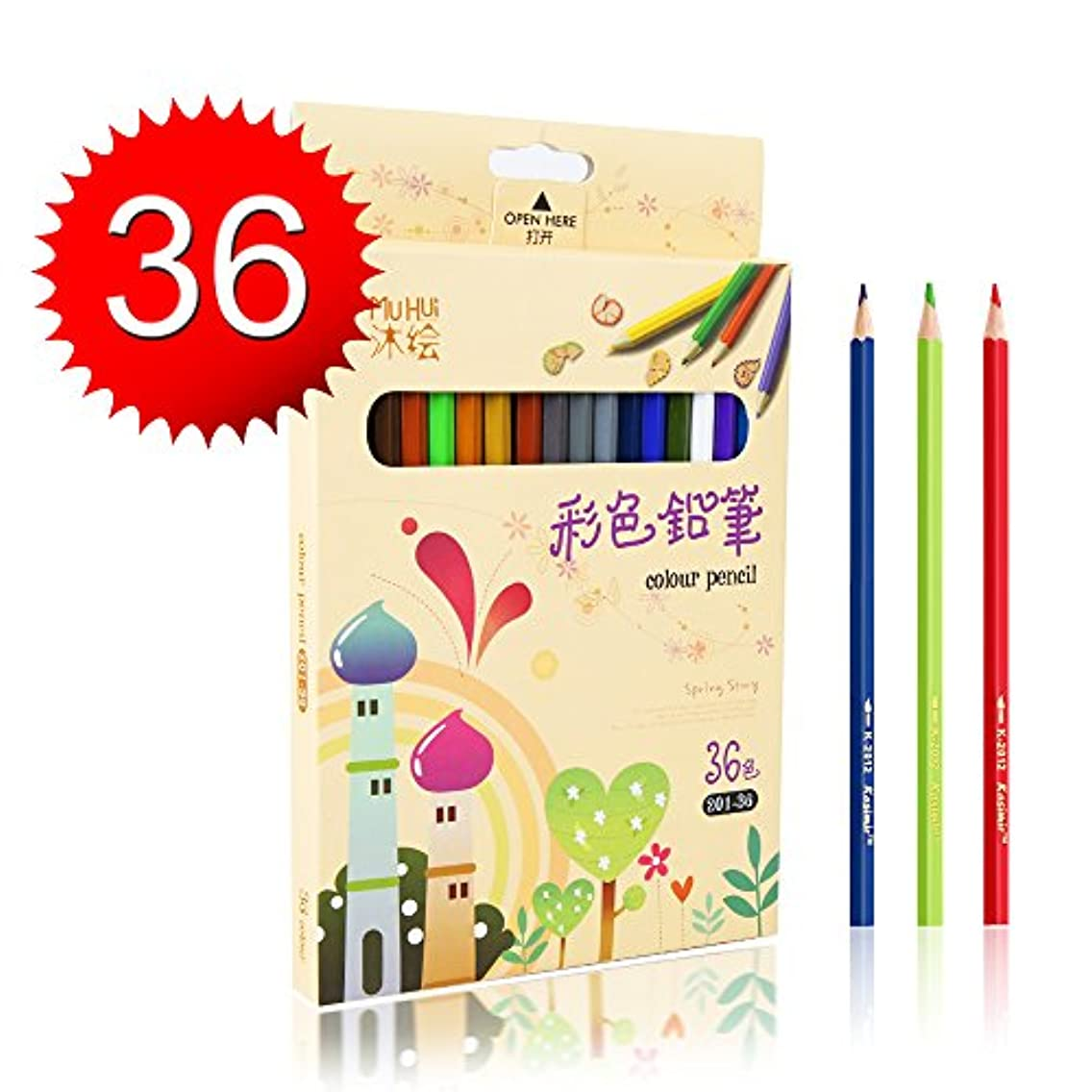 Kasimir Colored Pencils with Vibrant Colors and Soft Core for Adults Artists Kids Anime Sketch Book Adult Colouring Book(Pack of 36)
