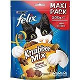 FELIX KnabberMix Original Katzensnack, Knusper-Leckerlie mit 3 Geschmacksrichtungen, 1er Pack (1 x 200g)