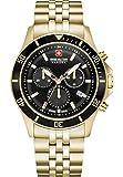 Swiss Military Hanowa Reloj Analógico para Unisex Adultos de Cuarzo con Correa en Acero Inoxidable 06-5331.02.007