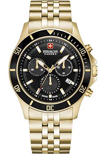 Swiss Military Hanowa Unisex Erwachsene Analog Quarz Uhr mit Edelstahl Armband 06-5331.02.007