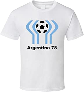 Argentina 1978 World Cup Soccer Host Logo Soccer T Shirt