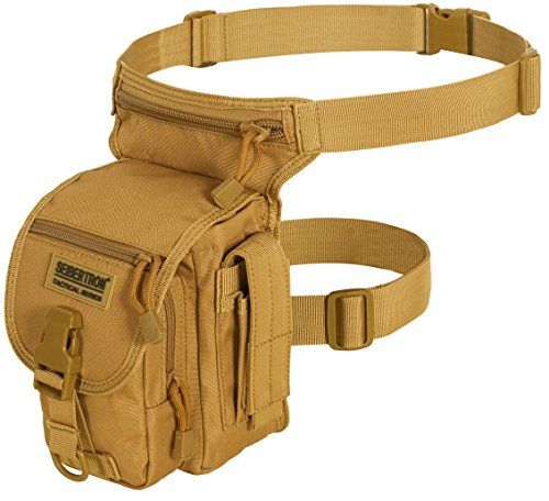 Seibertron Waterproof Tactical Outdoor Hiking Airsoft Utility Leg Bag Khaki
