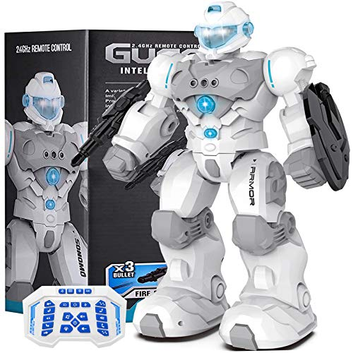 Masefu RC Robot Gift, Robot Toy Programmable Gesture Sensing Fighting Robot with Voice Control, Tech Dance Sing Walk Shoot Robot, Present for Kids