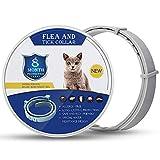 GLEADING Collar Anti pulgas y garrapatas para Perros y Gatos, prevención de garrapatas y pulgas hipoalergénico e Impermeable por 8 Meses de protección, tamaño Ajustable(38cm)