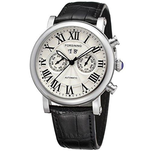 Reloj pulsera análogo automático con carcasa de acero inoxidable para hombres de...