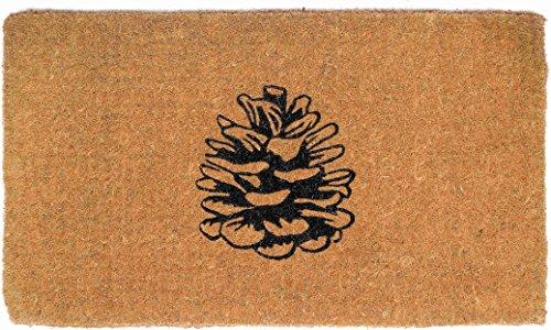 FAB HAB Nature Lover Pine Cone Felpudos 46 cm x 76 cm, Extra Gruesos Handwoven Durable